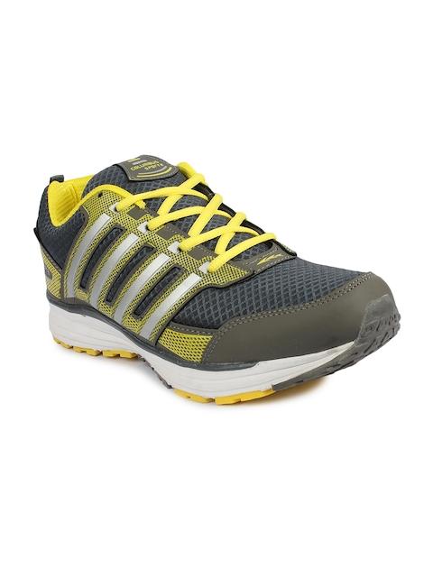 Columbus Men Grey & Yellow ECO-16 Training or Gym Shoes