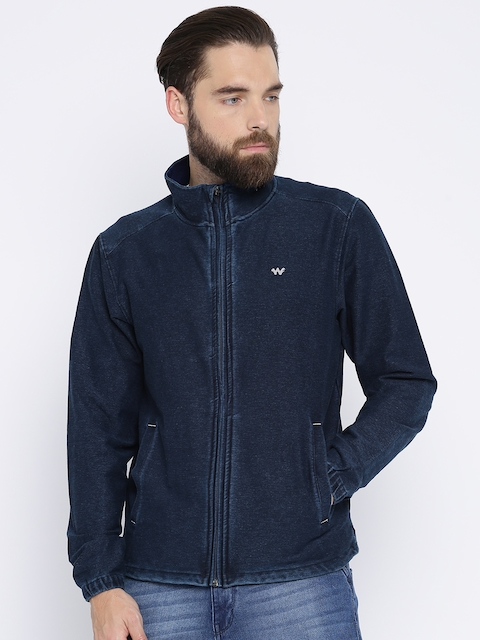 Wildcraft Men Blue Solid Sweatshirt