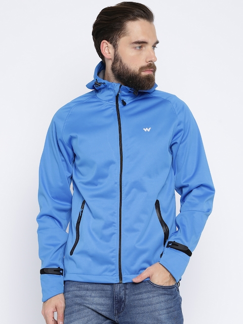 Wildcraft Men Blue Solid Hooded Sporty SoftPro