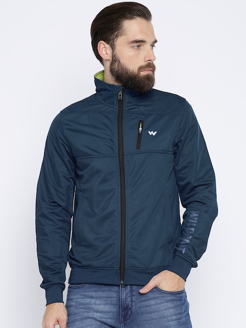 Wildcraft Men Navy Solid Sporty Trainer Jacket