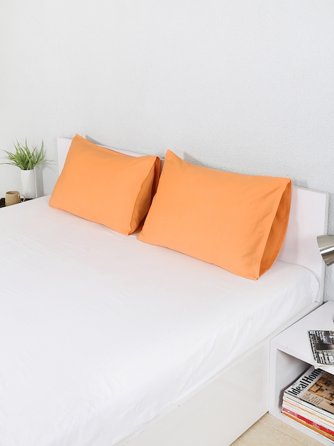 House This Set of 2 Orange 18 x 27 Rectangular Pillow Covers