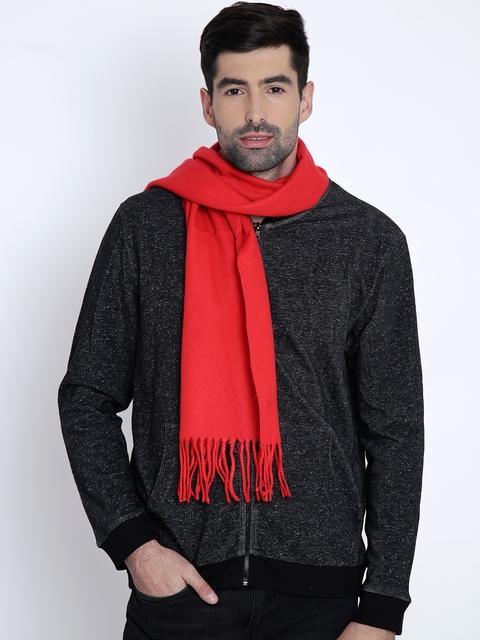 Alvaro Castagnino Men Red Muffler