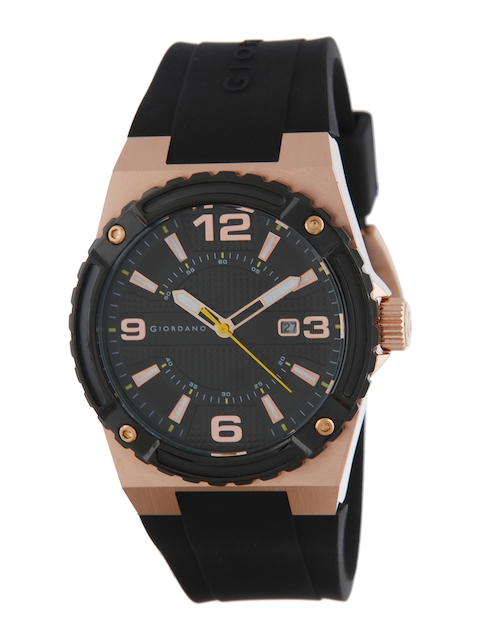 GIORDANO Men Black Analogue Watch 1868-04