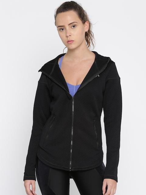 Puma Women Black Self Design Nocturnal Tailored Jacket