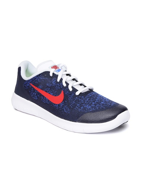 Nike Boys Blue FREE RN 2017 Running Shoes