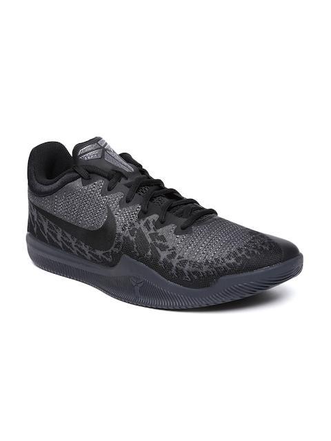 Nike Men Grey & Black MAMBA RAGE Basketball Shoes