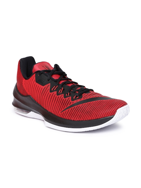 Nike Men Red AIR MAX INFURIATE 2 LOW Basketball Shoes