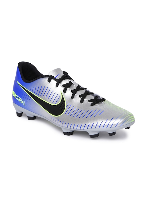 Nike Men Silver-Toned MERCURIAL VORTEX III Football Shoes
