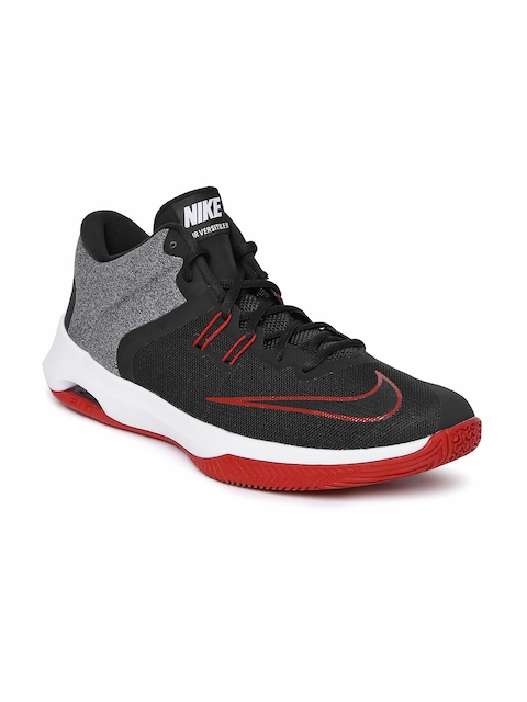Nike Men Black Textile Mid-Top AIR VERSITILE II Basketball Shoes