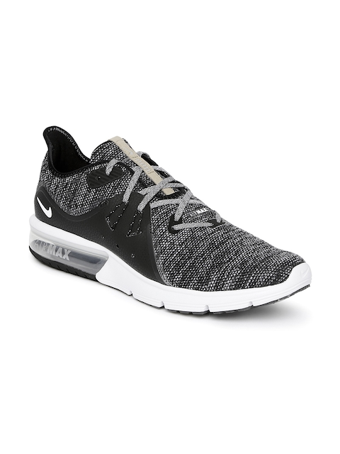 Nike Men Black AIR MAX SEQUENT 3 Running Shoes