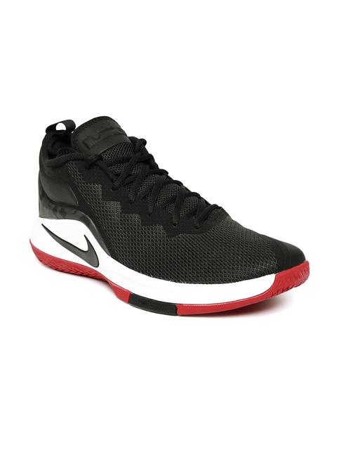 Nike Men Black LEBRON WITNESS II Mid-Top Basketball Shoes