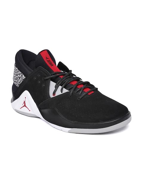 Nike Men Black JORDAN FLIGHT FRESH PREM Suede Mid-Top Basketball Shoes