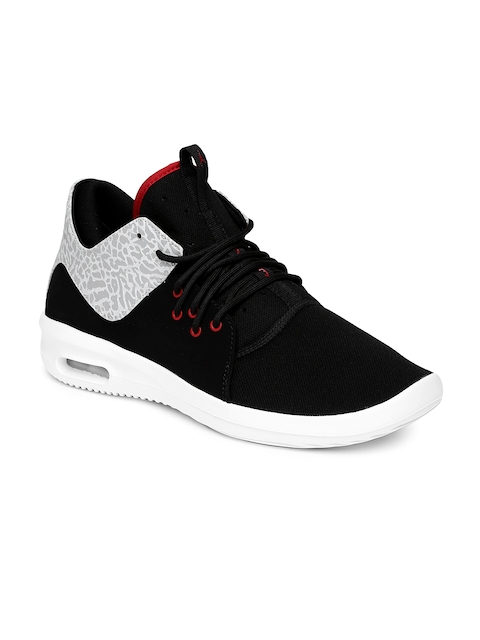 Nike Men Black & Grey AIR JORDAN FIRST CLASS Basketball Shoes