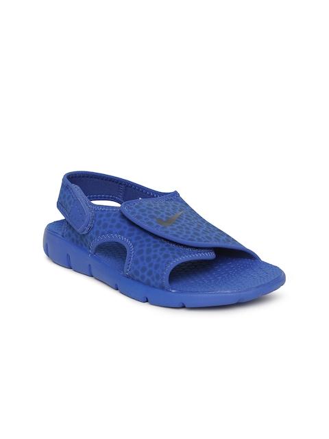Nike Boys Blue Printed SUNRAY ADJUST 4 Sports Sandals