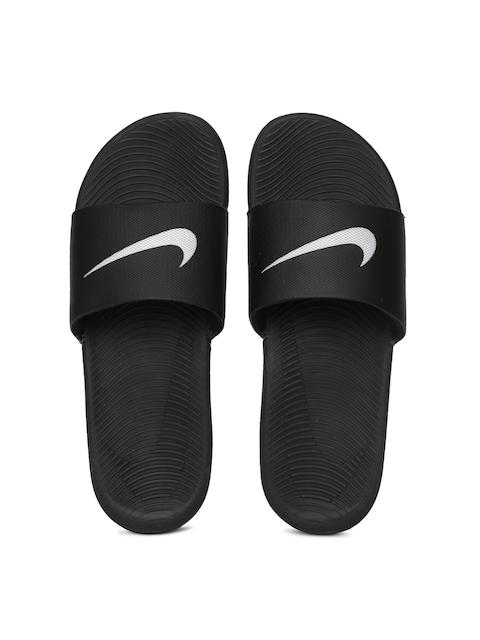 Nike Men Black KAWA Printed Flip-Flops
