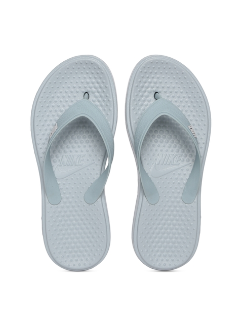 Nike Men Grey SOLAY Thong Flip-Flops