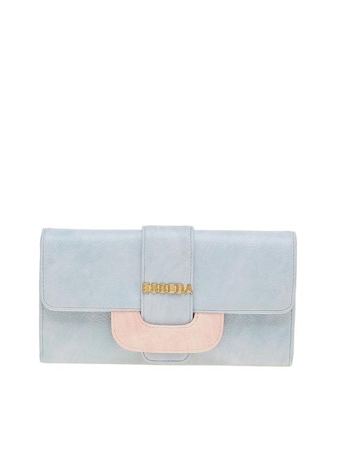 ESBEDA Women Blue & Pink Two Fold Wallet