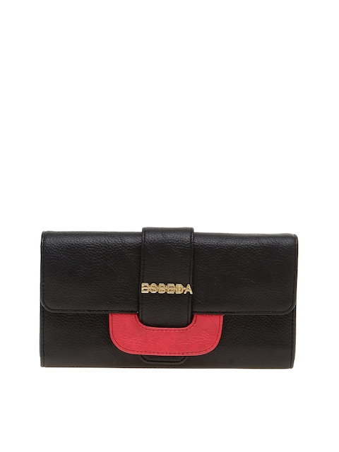 ESBEDA Women Black & Red Two Fold Wallet
