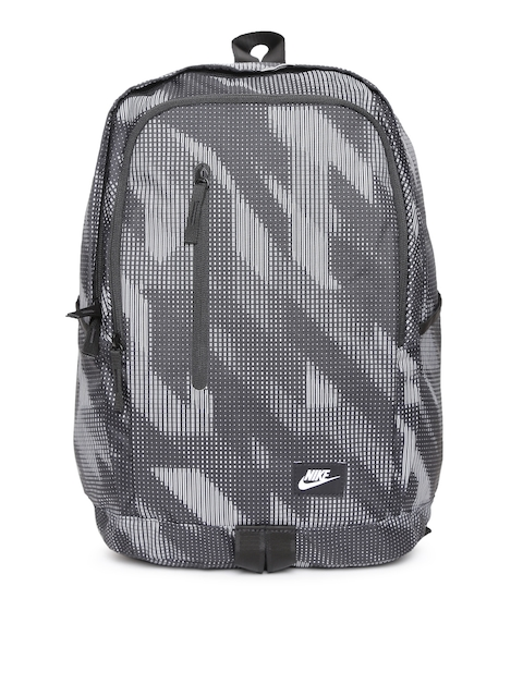 Nike Unisex Grey ALL ACCESS SOLEDAY Graphic Print Backpack