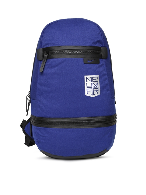 Nike Men Blue Solid Backpack