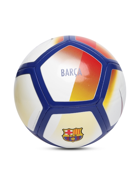 Nike White Printed FC Barcelona NK PTCH Football