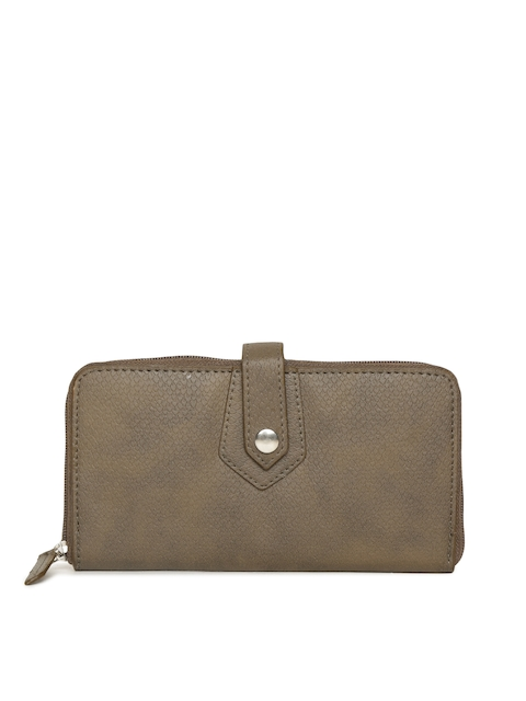 Baggit Women Brown Solid Zip Around Wallet