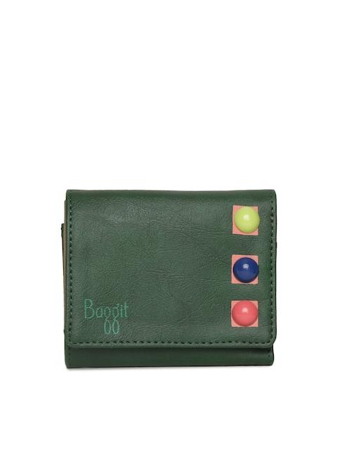 Baggit Women Green Three Fold Wallet