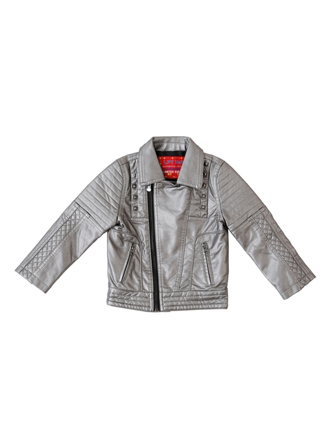 Lilliput Boys Grey Solid Open Front Jacket