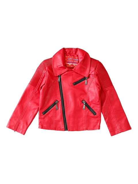 Lilliput Boys Red Solid Open Front Jacket