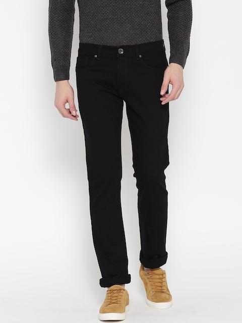 Pepe Jeans Men Black Soho Super-Slim Fit Low-Rise Clean Look Stretchable Jeans