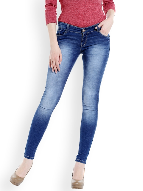 fungus Women Blue Slim Fit Low-Rise Clean Look Stretchable Jeans  available at myntra for Rs.1899