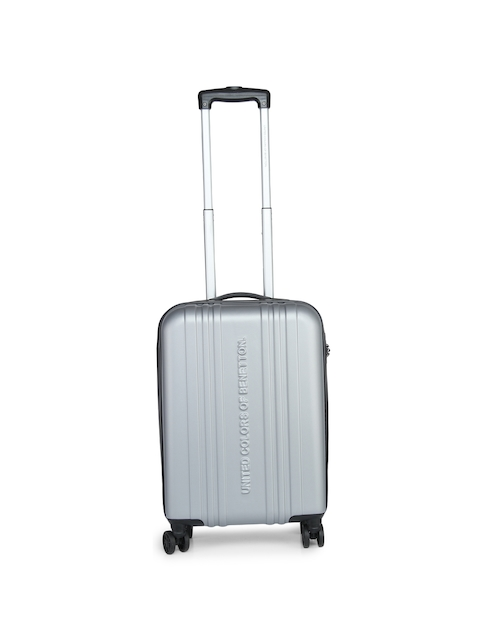 United Colors of Benetton Unisex Grey Cabin Trolley Suitcase  available at myntra for Rs.4079