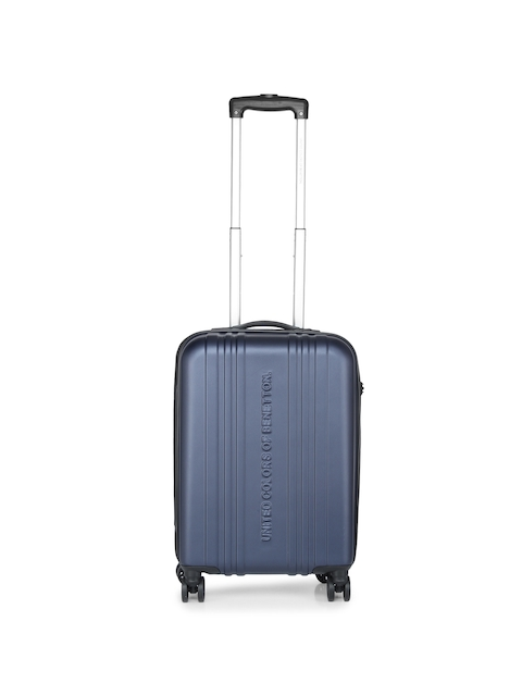 United Colors of Benetton Unisex Navy Cabin Trolley Suitcase  available at myntra for Rs.4079