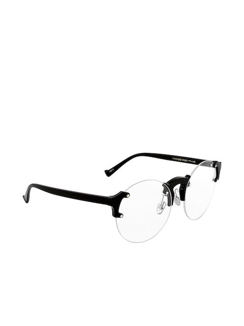 20Dresses Women Black Solid Rimless Round Frames SG0184