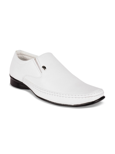 Action Men White Semi-Formal Slip-Ons  available at myntra for Rs.999
