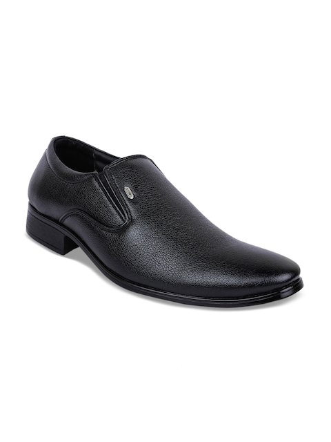 Action Men Black Semi-Formal Slip-Ons  available at myntra for Rs.999