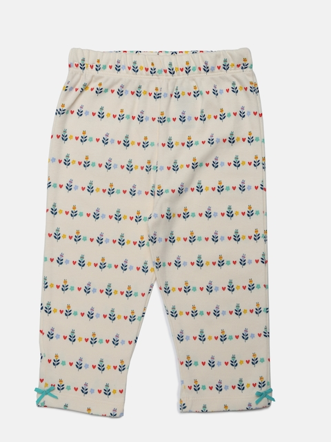 MINI KLUB Girls Off-White Printed Lounge Pants 91114E