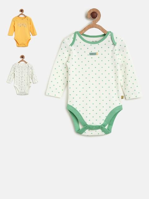 MINI KLUB Girls Pack of 3 Printed Bodysuits