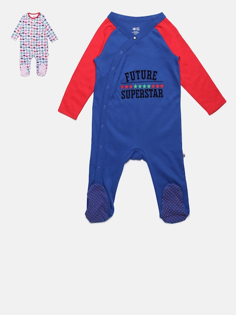 MINI KLUB Boys Pack of 2 Sleepsuits
