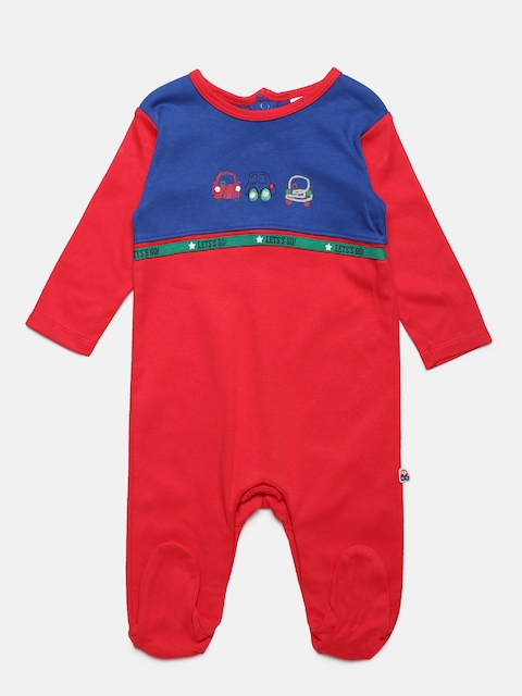 MINI KLUB Boys Red & Blue Sleepsuit