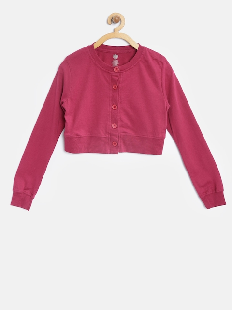 612 Ivy League Girls Pink Crop Shrug