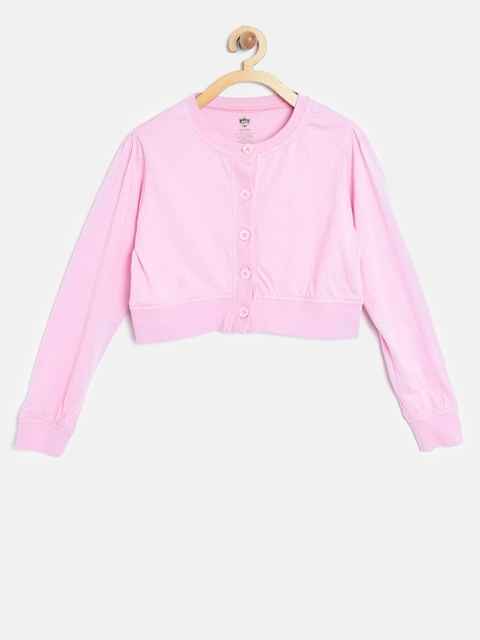 612 Ivy League Girls Pink Solid Shrug