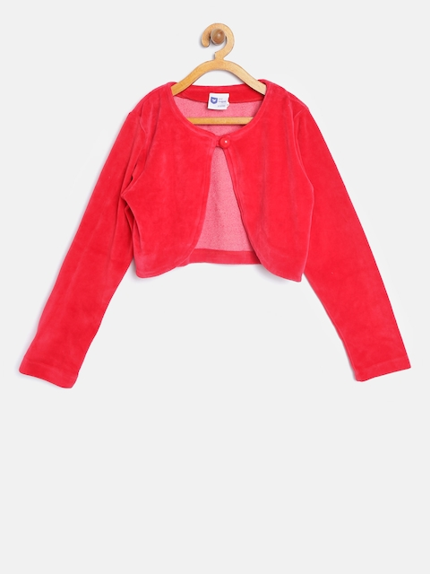 612 league Girls Red Solid Shrug