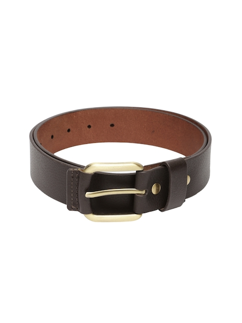 PUMA Men Brown Leather Belt