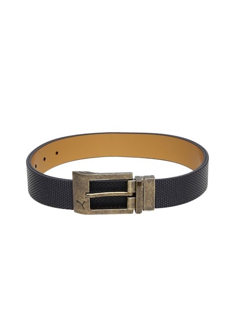 Puma Men Black & Brown Back Spin CTL Reversible Leather Belt