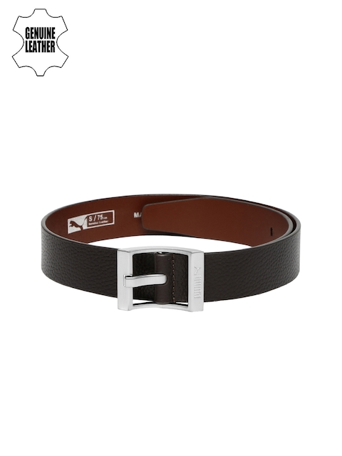 Puma Men Dark Brown Genuine Leather Belt