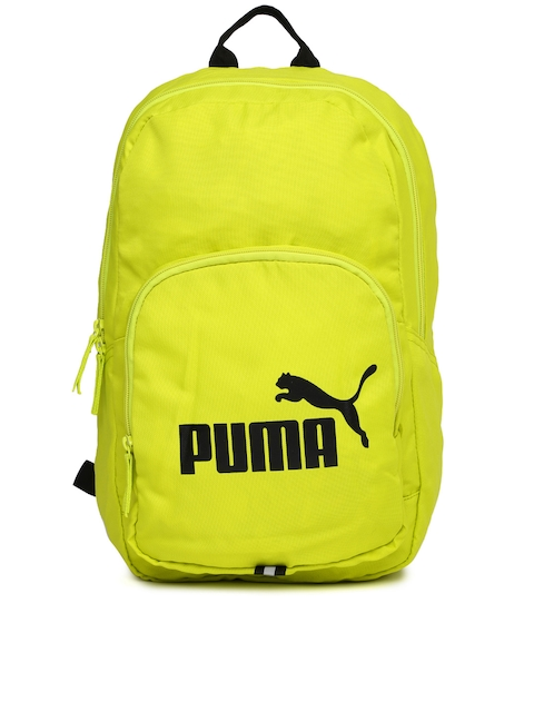 Puma Unisex Fluorescent Green Phase Backpack