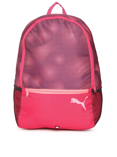 Puma Unisex Pink Printed Alpha Backpack  available at myntra for Rs.899