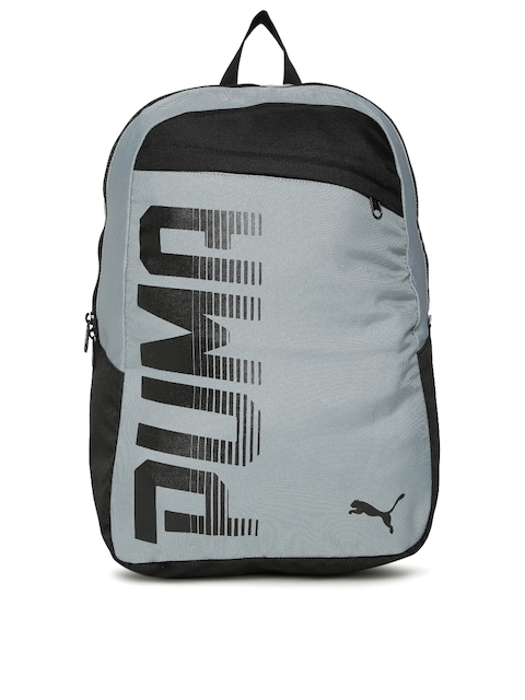 Puma Unisex Grey Brand Logo Pioneer Backpack