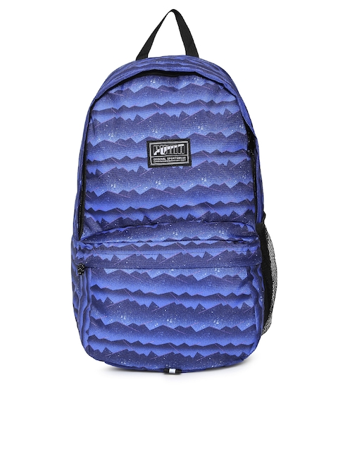 Puma Unisex Blue Printed Academy Backpack